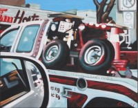 #366 Tow Truck July 1 16_x20_ 2012 oil on canvas